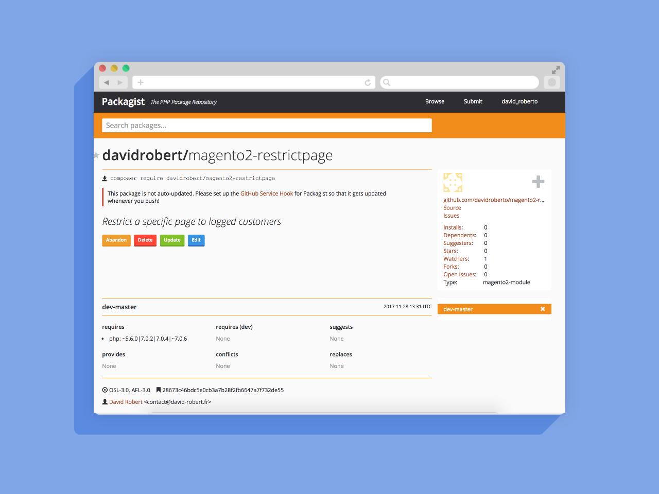 Open Source / Free : Développement d'un module Magento 2 pour restreindre l'accès à certaines pages