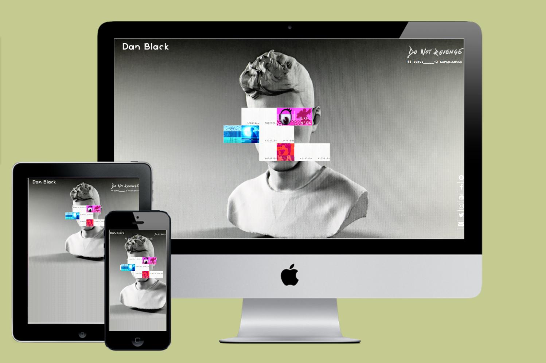 Dan Black : Développement d'un site concept pour le lancement d'un album