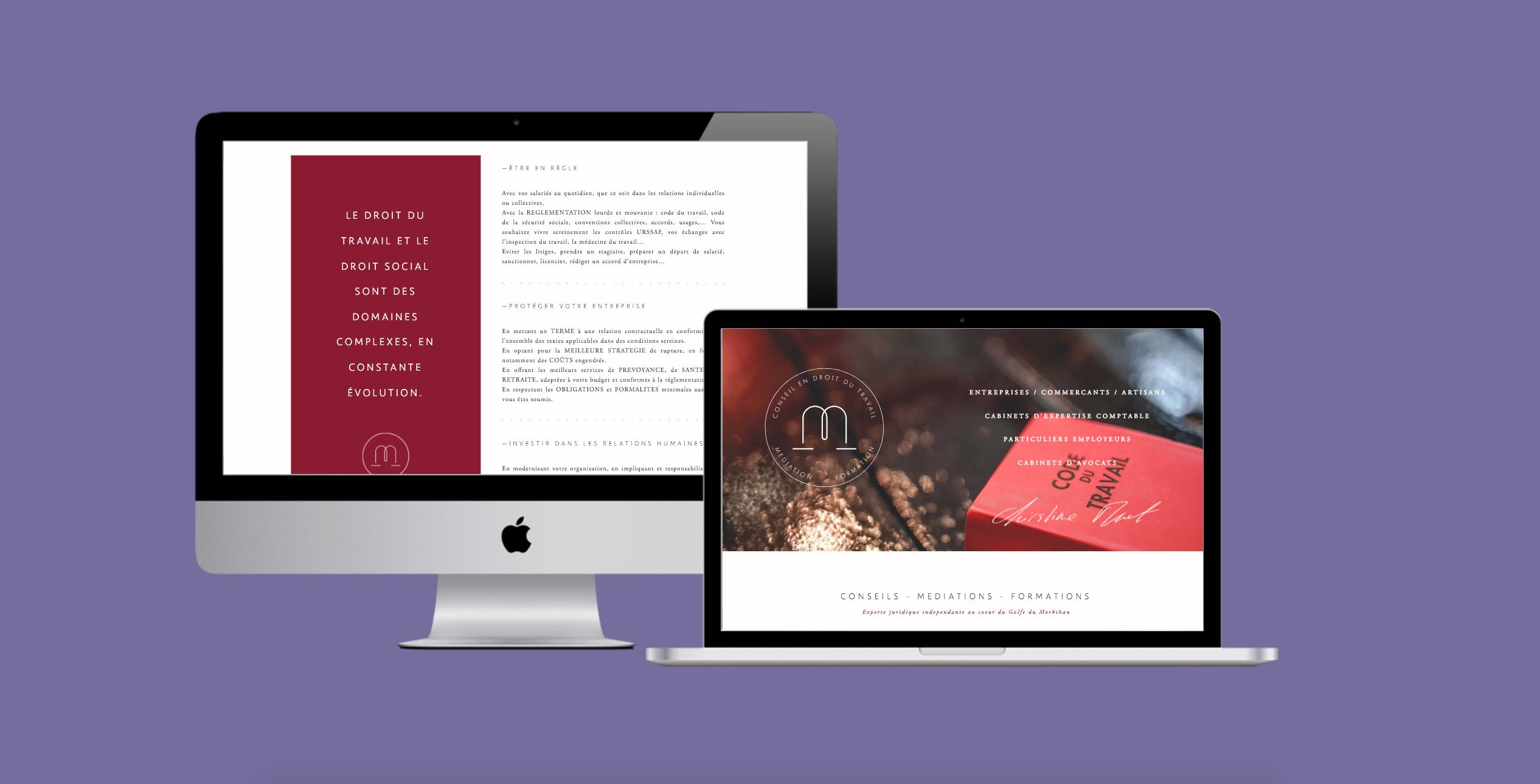 Christine Muet : Développement d'un site vitrine et d'un blog