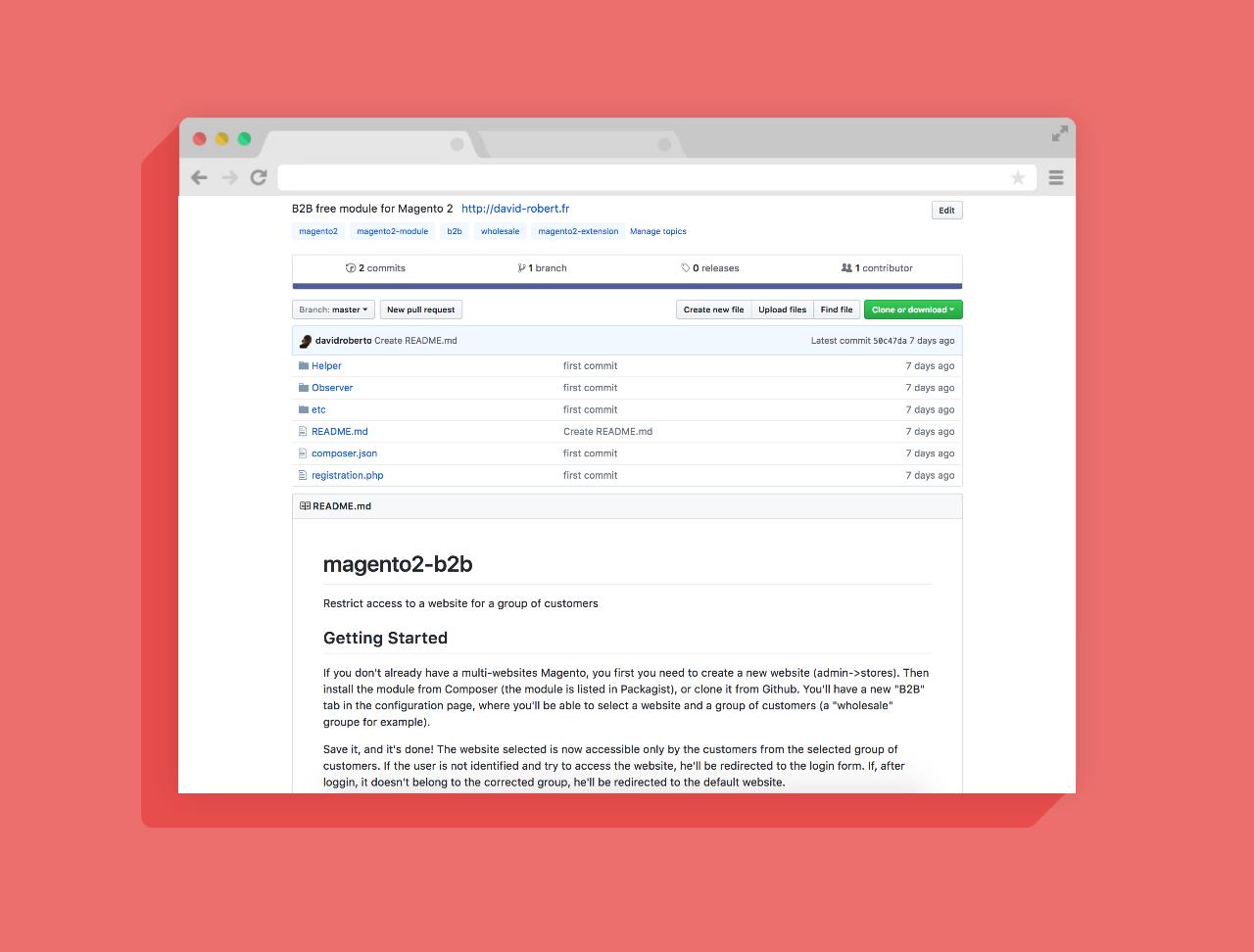 Open Source / Free : Développement d'un module B2B pour Magento 2