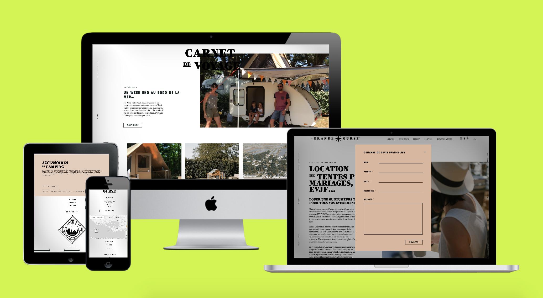 La Grande Ourse : Développement d'une plateforme de réservation de campings