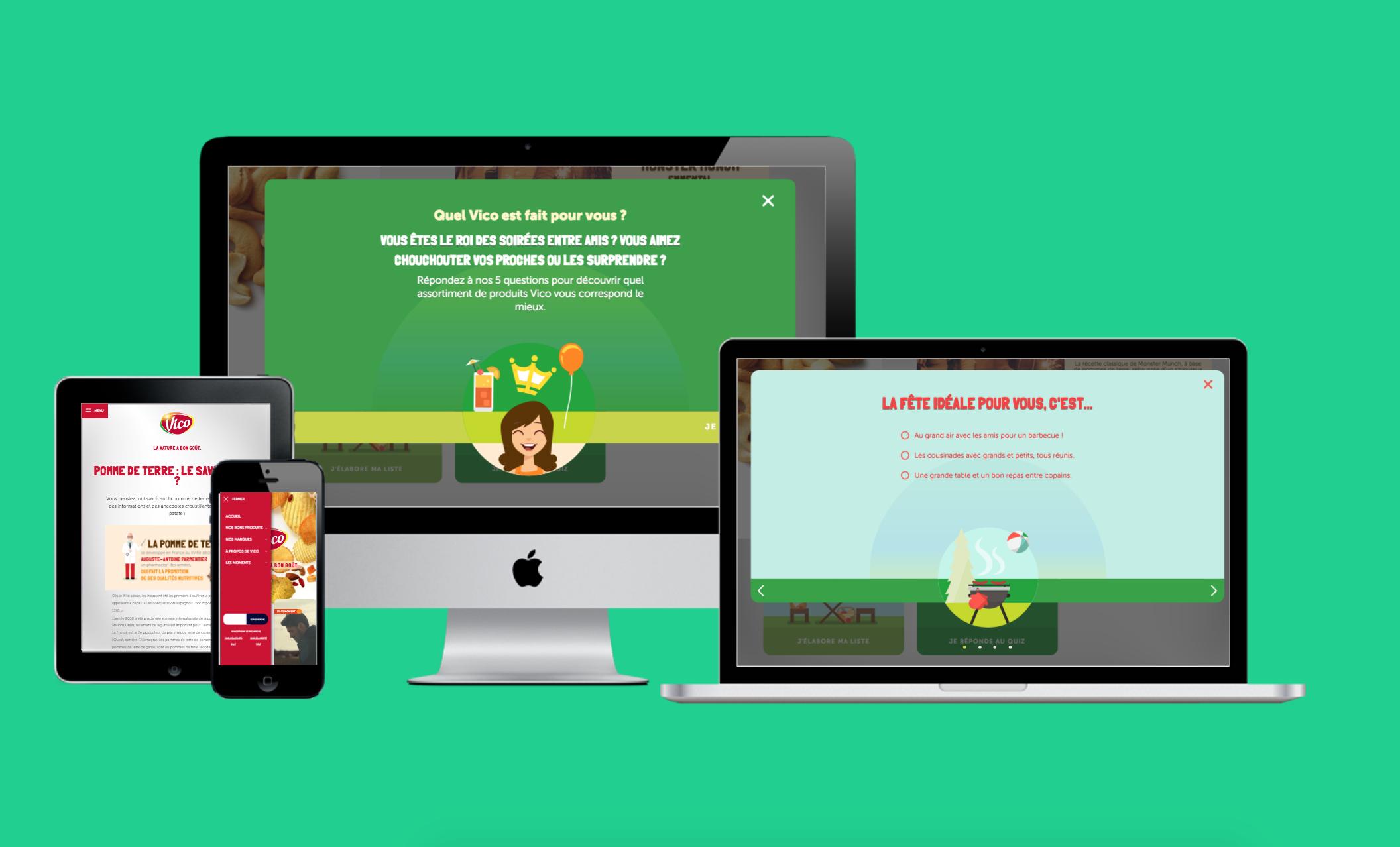 Vico : Développement et intégration du site web